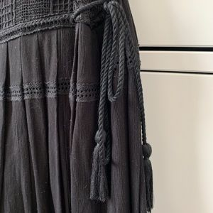 Free People Dresses - Free People 'Emily' black crochet dress - Sz S